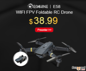 Only $38.99 For Eachine E58 WIFI FPV Foldable RC Drone